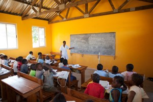 Improved school buit by ChildFund