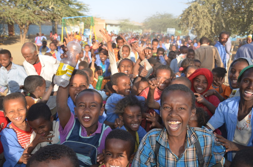 Children and Community members in Ethiopia