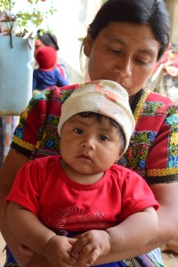 Maria Natalia and daughter Yolanda, 8 months, at an ECD program in Palima, Guatemala.