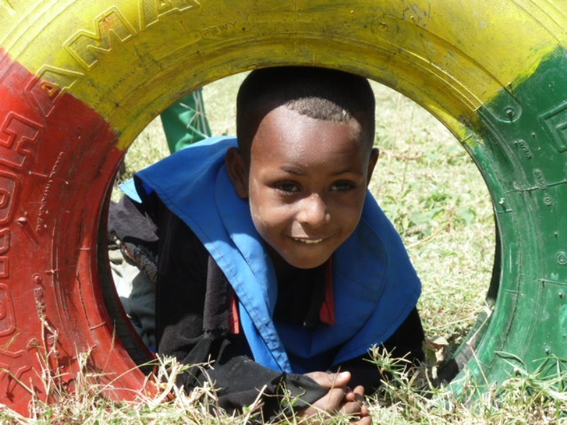 Lemlem - pupil at ECD Centre in Boye Awarkasa, Siraro District, Ethiopia