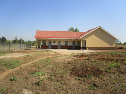 The New ECD Centre for Kids at Okwece in Kiryandongo, Uganda.  We want playground facilities to fill this picture and we want children playing there!
