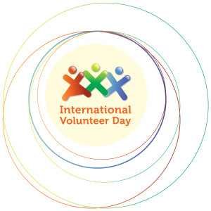 Logo for International Volunteer Day