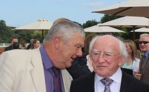 Michael Kiely (left) speaks with Ireland Pres. Michael D. Higgins, a supporter of ChildFund's work
