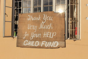 Young survivors volunteer to help other survivors at ChildFund's CCS sites.