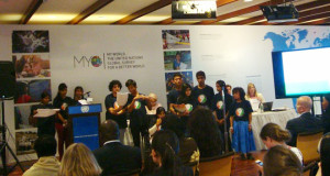 Children from NINEISMINE tell delegates what kind of world they want post 2015