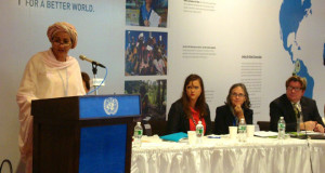 Ms Amina Mohammed, Assistant Secretary-General, Special Advisor on Post-2015 Development Planning addresses the event.
