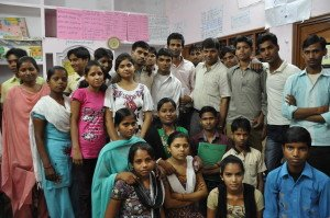 Manisha with her youth club members and ChildFund staff at the centre