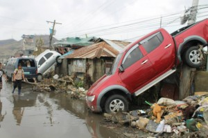 Tacloban sustained some of the most serious damage wrought by Typhoon Haiyan in November 2013