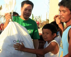 After the typhoon, people on Leyte Island received assistance, but much work was ahead.