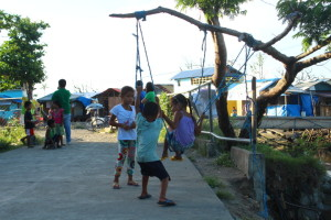 Slowly, conditions are improving in Tacloban. Many children have received psychosocial support