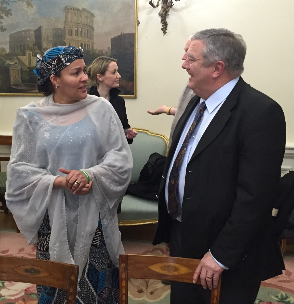 Amina Mohammed & Mick Kiely at Departmentt of Foreign Affairs, Dublin,15th Jan 2015