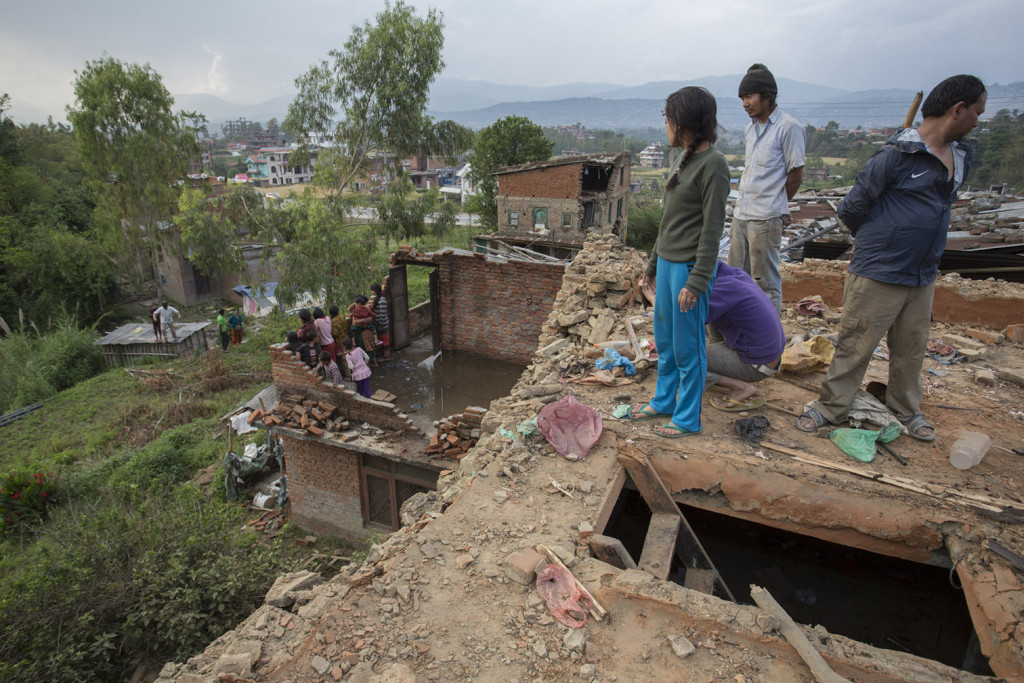 Nepal Earthquake - Surveying the damage in Pathal Khet, Kavrepalanchok District