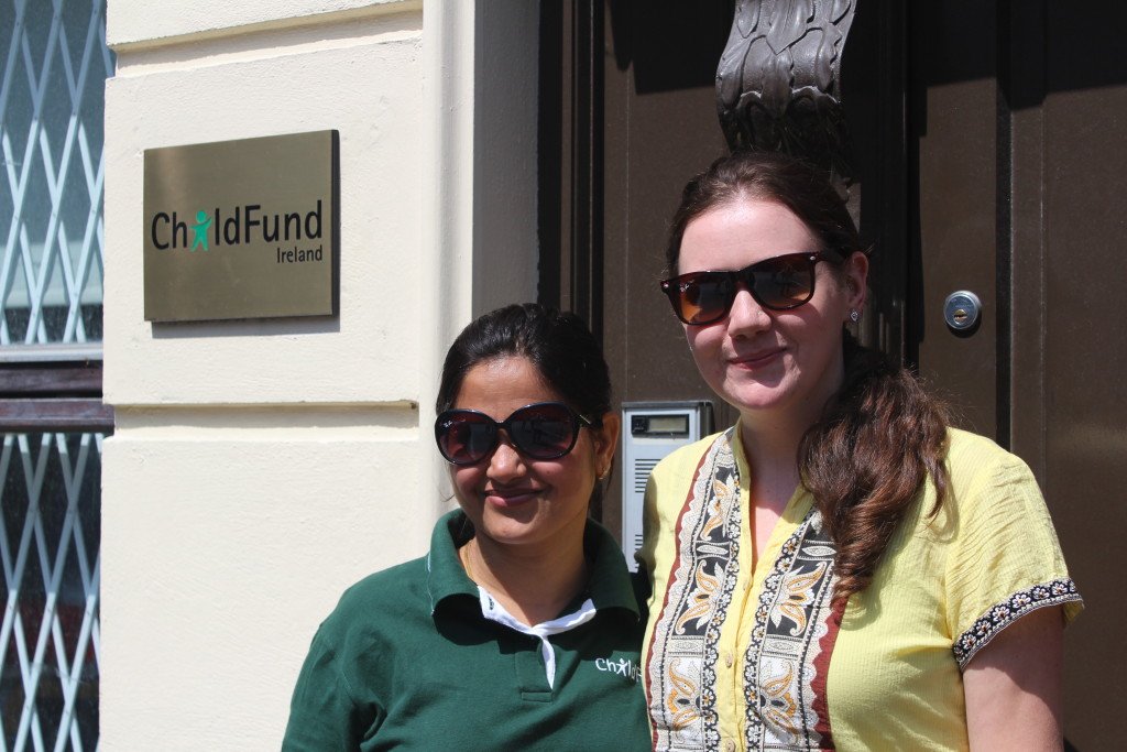 Bernadette & Saraswati outside the ChildFund Offices in Dublin, June 2015