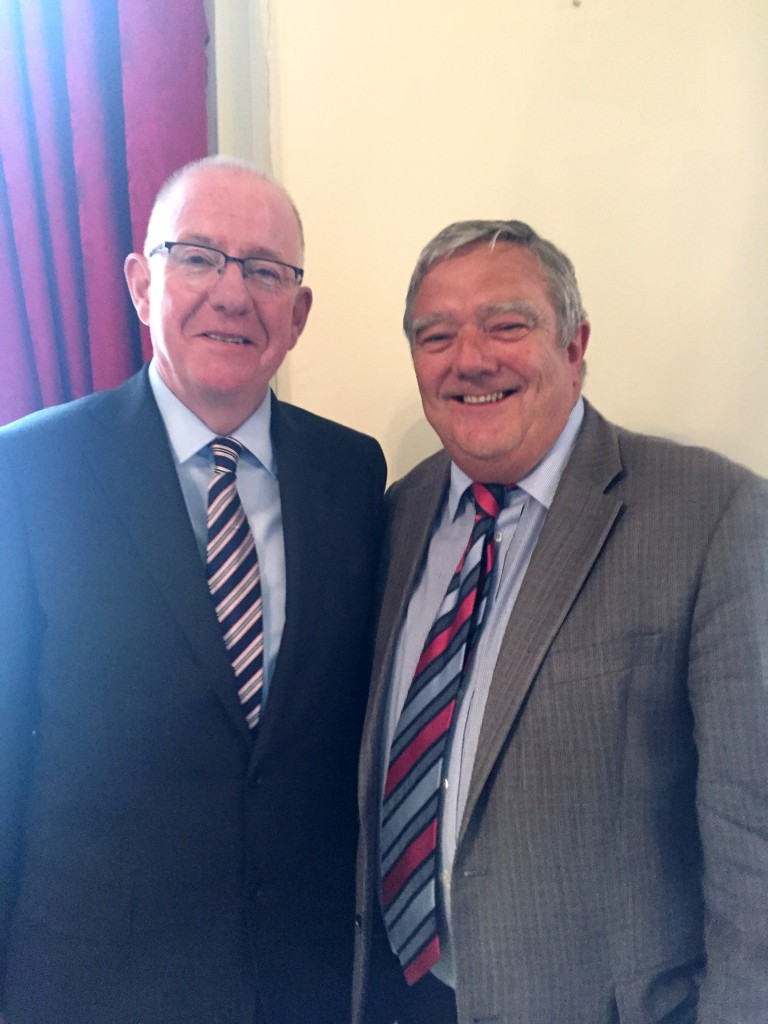 Minster Charlie Flanagan and ChildFund Ireland CEO