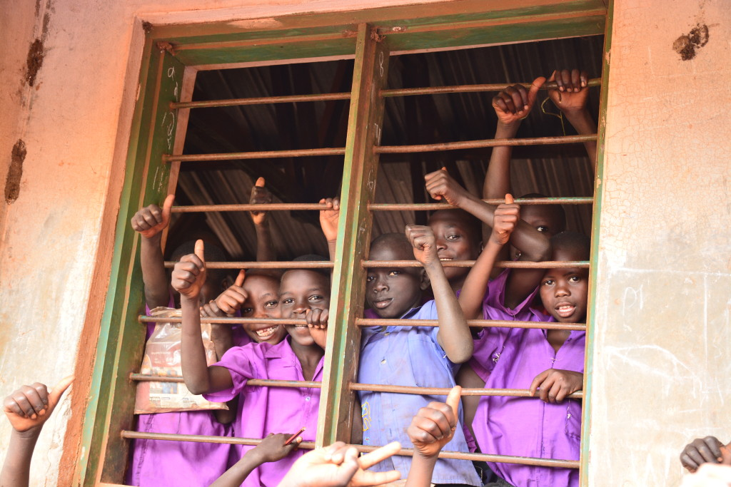 Kids at a ChildFund run school in Kirandongo, Uganda