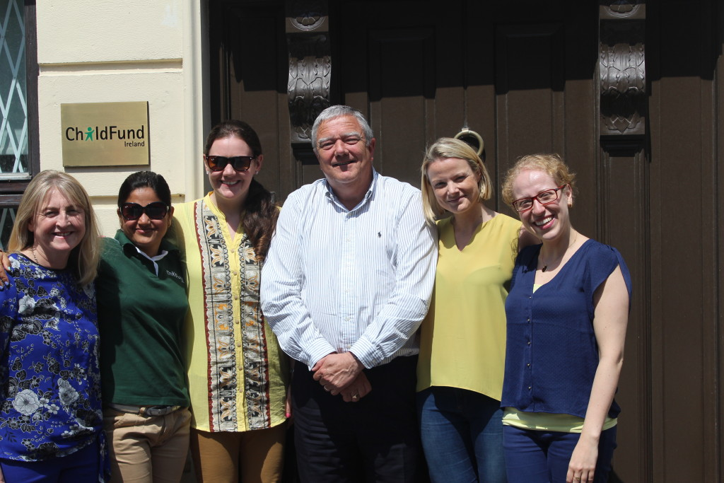 Ber &  Sara with ChildFund staff outside our offices in Dublin