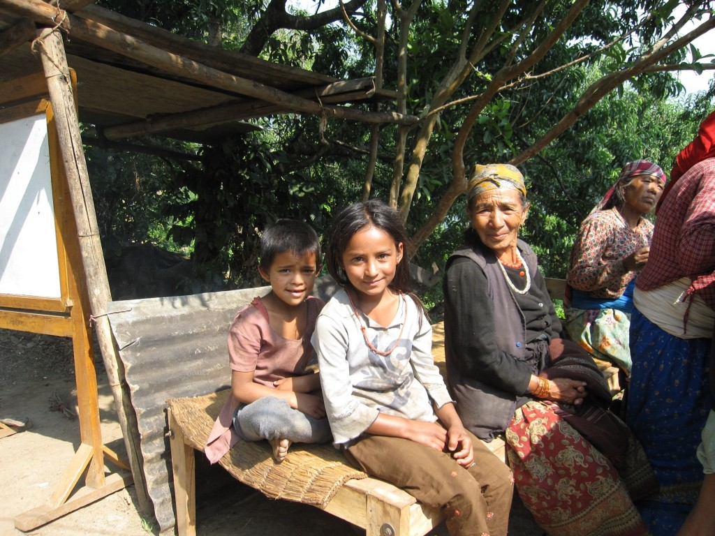Nirjana with Family - Nepal earthquake Aftermath