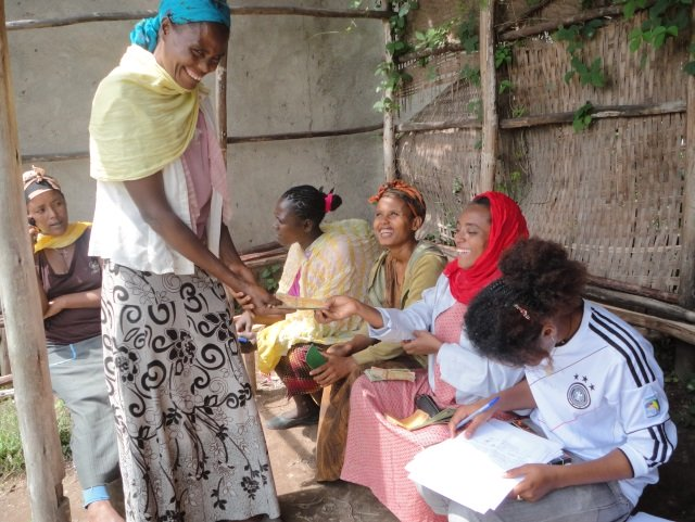 Women meet for a micro-finance training through local partner Dugda Children's and Family Charitable Organization (Dugda CFCO). Yekokeb Berhan