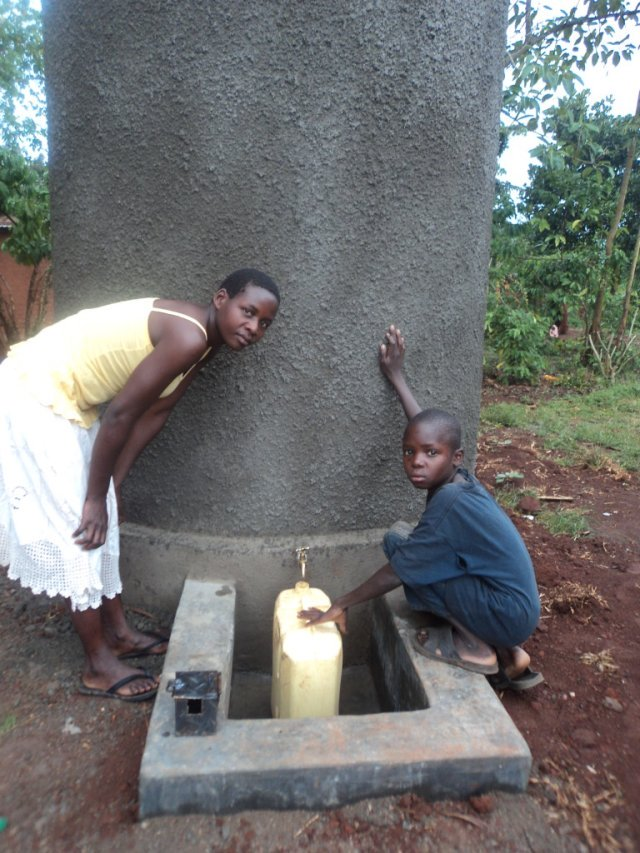 Edwards mother no long has her day dominated by exhausting journeys to get water for her family