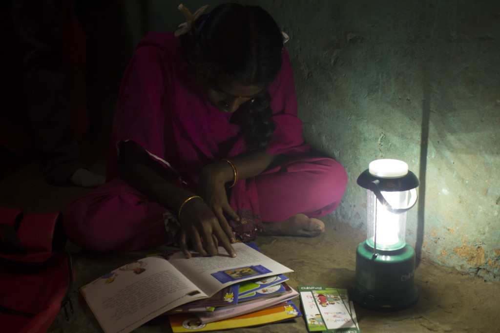 ChildFund India distributed Solar lanterns to children under its campaign Books, my Friends' 2nd Phase.