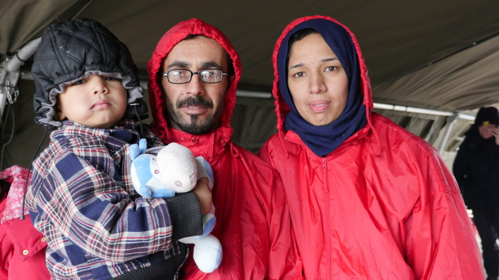 One of the Many families escaping conflict by fleeing to Europe