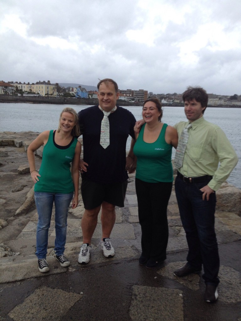 Clodagh Byrne, Chess Grandmaster Alexander Baburin, and Elena & Owen Lorigan at the 40-foot Dun Laoghaire Dublin - Dec 19th, 2015