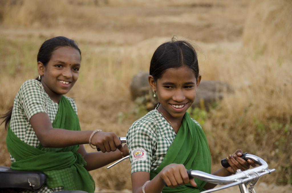 Bicycles donated to girls in India
