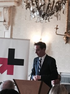 Television Host Ryan Tubridy speaking at the HeforShe event, Dublin, March 11th, 2016