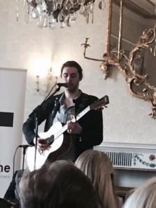 Singer Andrew 'Hozier' Byrne performs 'Cherry Wine' in front of the invited guests, 11th March , 2016