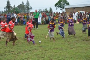 ChildFund Chair Brendan Kenny Referees a Match in Siraro, Ethiopia