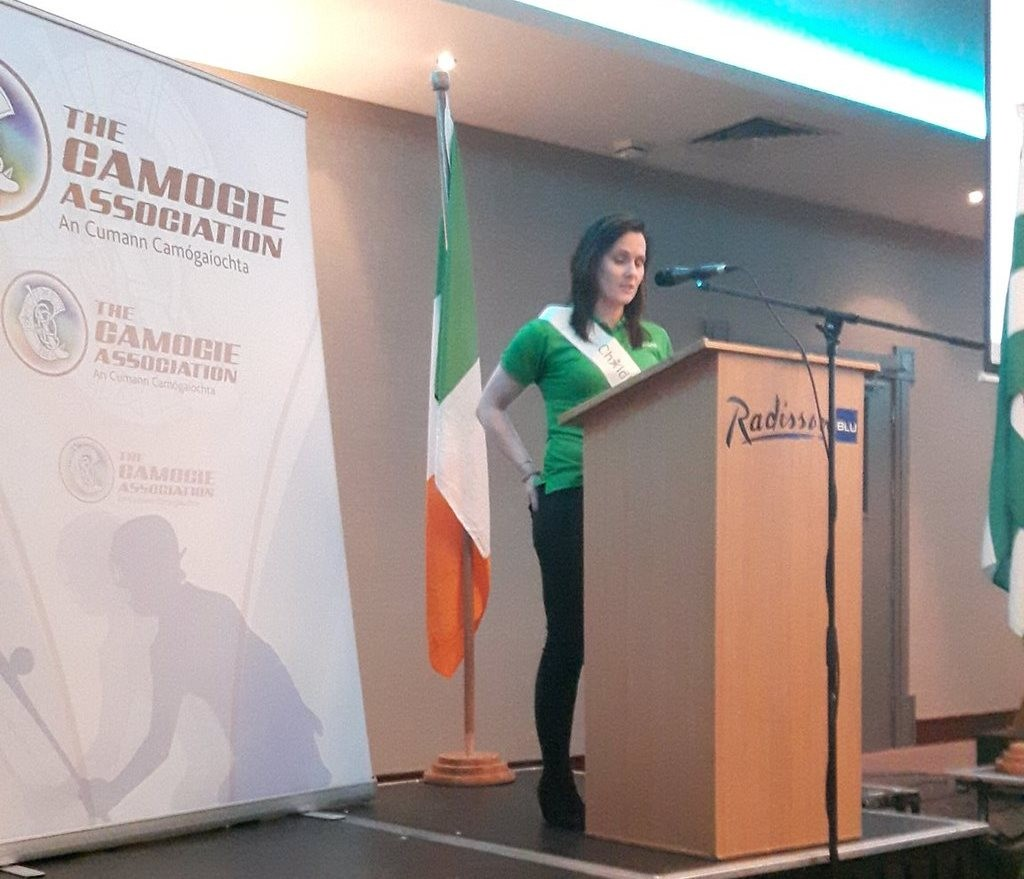 Aoife Murray Adresses the Camogie Association Annual Congress, April 1st 2016 (Compressed)