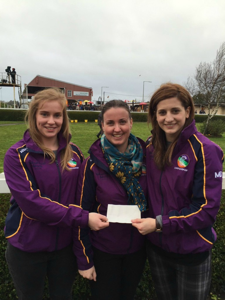 Wexford-Camogie-Captain-Shauna-Sinnott-and-Treasurer-Angela-Gahan-donate-to-ChildFund-Ambassador-Mags-DArcy.jpg