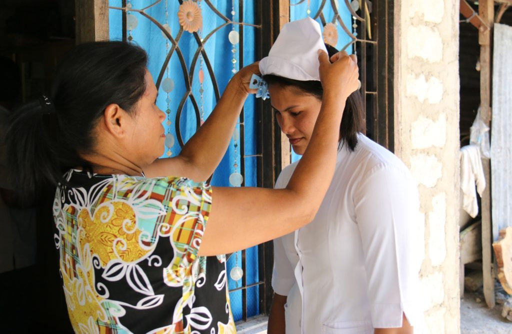 Else from Indonesia, a former sponsored child, has now graduated as a nurse