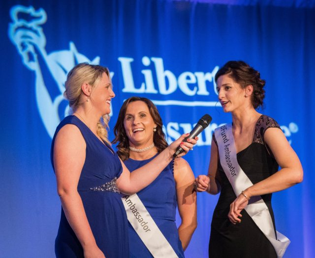 REPRO FREE***PRESS RELEASE NO REPRODUCTION FEE*** 2016 Camogie All-Stars Awards In Association With Liberty Insurance, Citywest Hotel, Co. Dublin 5/11/2016 Co-Host Jacqui Hurley with Aoife Murray and Mags D'Arcy for ChilFund Mandatory Credit ©INPHO/Ryan Byrne